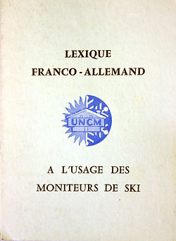 58 Lexique Franco Allemand UNCM, coll. R