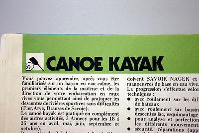 (138) Canoe Kayak, collection RFaymond G