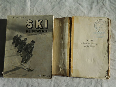 100 Ski de descente,, le ski en hiver, a