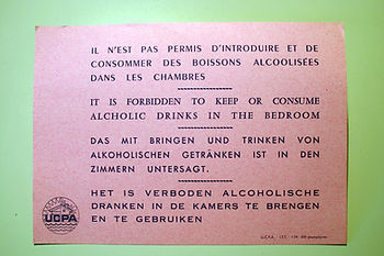 (109) Interdiction d'alcool, collection