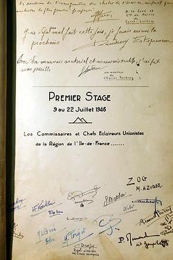 (106)_Premier_stage_1946,_Commissaires_e
