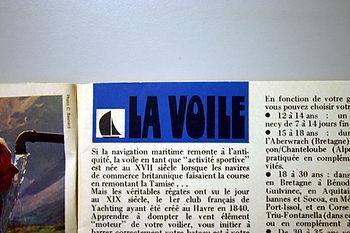 (132) La Voile, collection Raymond Gired