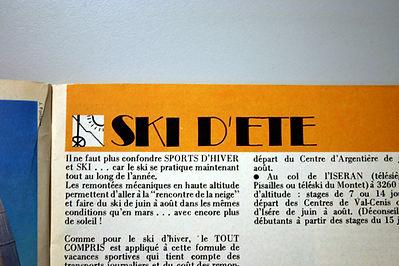 (136) Ski d'été, collection Raymond Gire