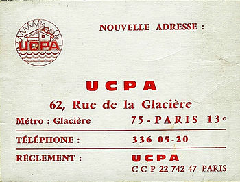 (161) Nouvelle adresse UCPA, collection