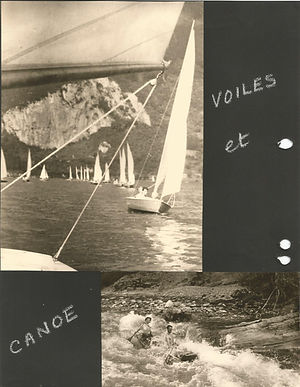 (80)1957 8 voile et  canoe(cred. F.Gille