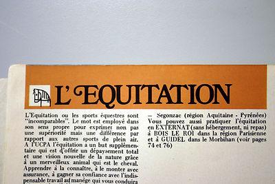 33 Ecrit Equitation, coll. Raymond Gired