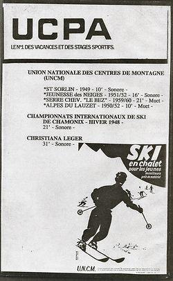 (158) UNCM Ski en chalet, collection  Ra