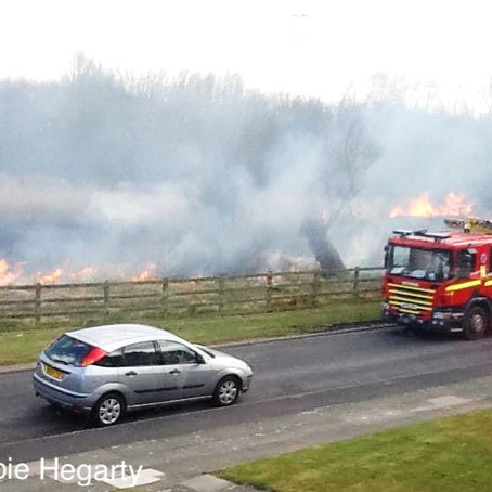 Fire crews were called to large fires at Easter weekend on Rimrose Valley Country Park