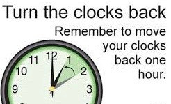 Remember that the clocks go back by one hour at 2am tonight