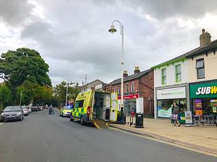 Ambulance and paramedics called to Formby village this morning