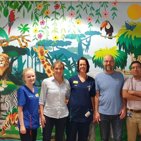 Jungle scene roaring success at Ormskirk hospital