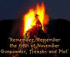 The Gunpowder Plot of 1605 and Bonfire Night