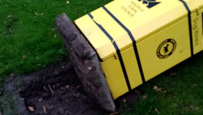 The bins have been removed from Dodd's Park after vandalism