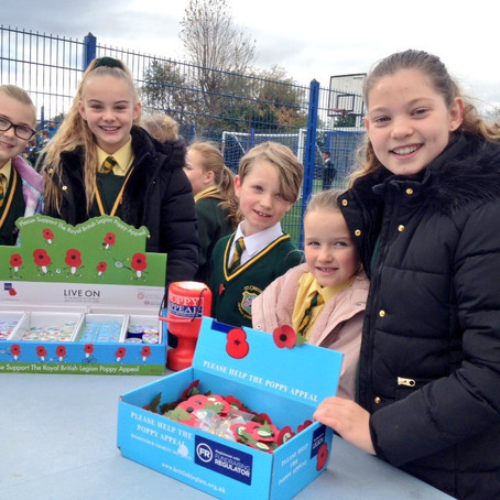 St Gregory's Primary in Lydiate have been selling Poppies