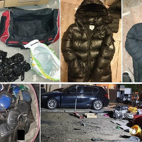 Two arrested and drugs, cash and suspected stolen clothing and vehicles seized in Ainsdale
