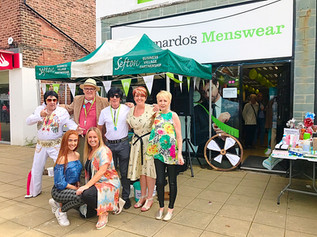 Formby Village came alive with a day of live music at Barnardo's Menswear