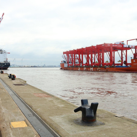 Arrival of five CRMG cranes at Port of Liverpool marks significant milestone for growth