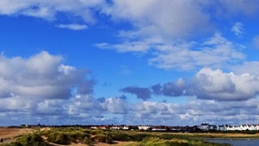 Good Morning on Thursday 23rd September. Cloudy conditions with 22mph winds across Sefton
