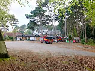 Merseyside Fire & Rescue called out to a fire at Shorrocks Hill in Formby