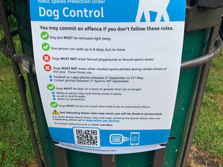 Public Space Protection Order - Dog Control signs have been erected today in Duke Street park