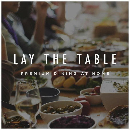 FREE food delivery this weekend from 'Lay The Table' with our promo code