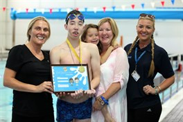 Super Teen Shows Swimming Strength Against All Odds
