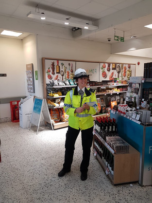 Officers from Roads Policing are at Waitrose in Formby today to speak to senior road users