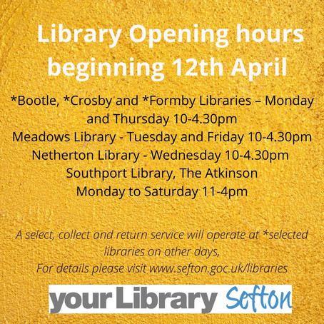 Libraries across Sefton are opening their doors today