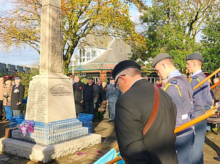 The community of Formby fell silent last weekend for Remembrance Day
