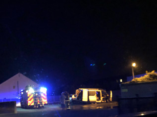 Fire crews in attendance at a fire in Formby