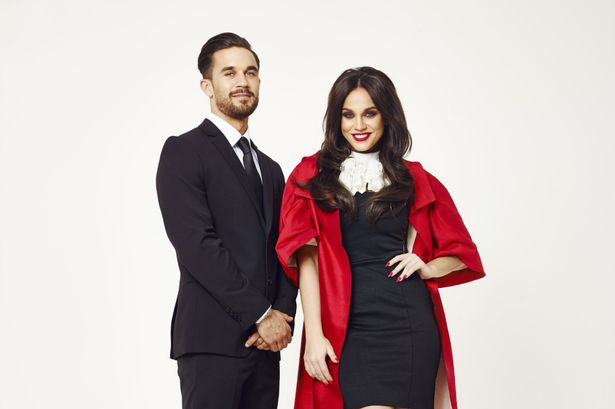 Vicky Pattison and Alex Cannon in MTV series Judge Geordie.jpg