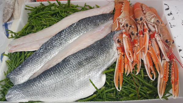 Tony Kemp fresh fish Samphire grass, wild Seabass, Langostines and lots more..jpg