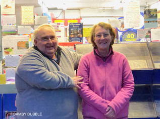 Goodbye to Steve and Sue after 17 years in the Village Newsagents