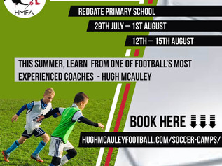 Hugh McAuley's children's summer football camps In Formby