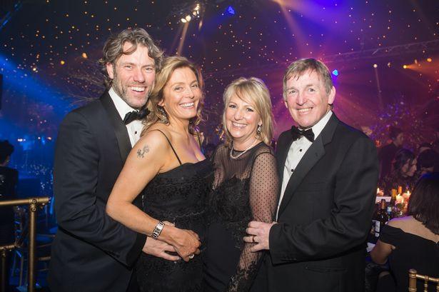 John and Melanie Bishop with Kenny and Marina Dalglish at the Marina Dalglish Gr