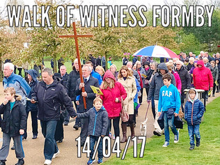 Over 500 people took part in the Formby Walk of Witness on Good Friday