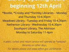 Formby Library opens its doors today after lockdown