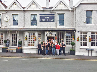 The Freshfield Pub re-opened with Laurel and Hardy after the refurbishment