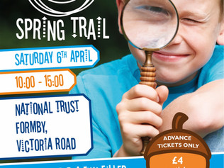 Join National Trust Formby fun-filled family adventure on their Spring Trail