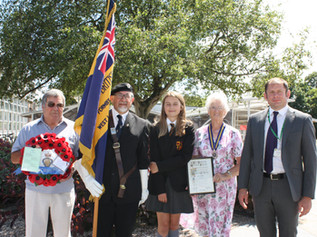 Poem written by a Formby school girl to go into a wreath to represent Formby branch of British Legio