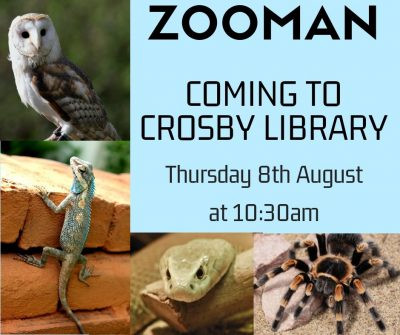 Sefton children enjoy nature in their local library with the Zooman