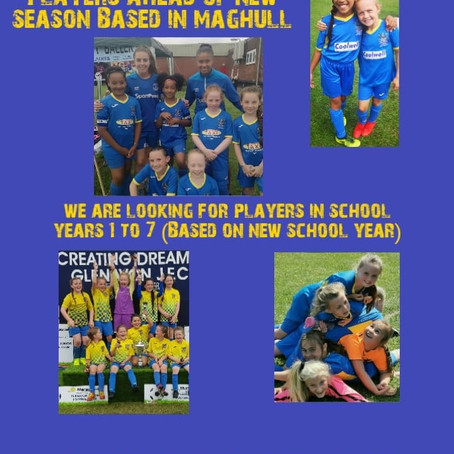 Girls Only football teams looking for new players