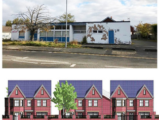 Old Ambulance Station on Church Road is to be 3 dwelling houses