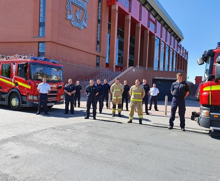 Merseyside Fire Service praised for support towards community during pandemic