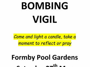 Vigil to honour the victims in the Manchester Bombings to take place in Formby