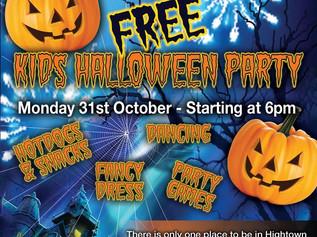FREE Kids Halloween Disco at 6pm TONIGHT