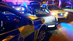 Residents heard the Police helicopter last night for over an hour whilst in pursuit of a cloned car