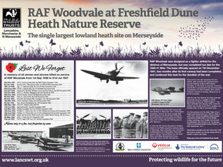 A sign on Freshfield Dune Heath will be unveiled to commemorate 75 years since Woodvale opened