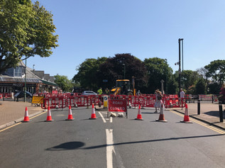 Chapel Lane roundabout is closed from today but businesses are open as usual