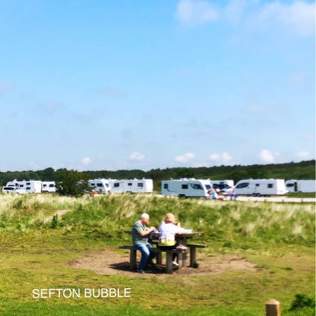 Travellers camp has been set up on National Trust land in Lifeboat Road, Formby